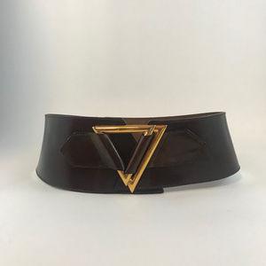 Adoppia Vita Accessories - Adoppia Vita Italian Leather Wide Brown Leather